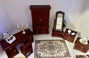 dolls house bedroom furniture set Boxed With Accessories