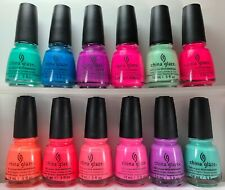 China Glaze Nail Polish Sunsational Complete Collection 12 Summer Neons Lacquers