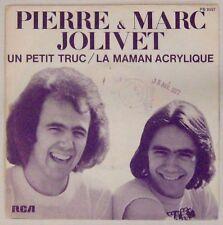 Pierre et Marc Jolivet 45 tours Un petit truc