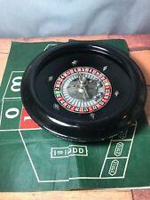 1940's Josa Games Lucky Brand Bakelite Roulette Wheel With Mat & Balls 3A