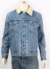New Levi's Mens 16365 Medium Sherpa Lined Classic Trucker Jean Jacket Size Large