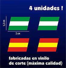 Pegatinas - Sticker - Vinilo - BANDERAS DE ANDALUCIA (2) Y ESPAÑA (2) - VOLCADAS