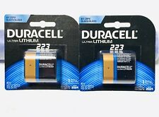 2x Duracell 223 Ultra Lithium Battery 6V, CPR2, DL223 / EL223 ~ NEW