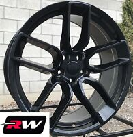 """20"""" RW Wheels for Charger SRT Challenger Hellcat Widebody Style Gloss Black Rims"""