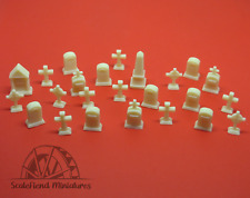 HO 1/86 scale Grave stones - set of 24
