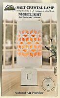 Himalayan Glow Salt Crystal 360 Rotatable Plug In Wall Night Light White Ceramic
