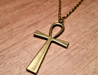 Bronze Ankh Cross Necklace ~ UK Buyers ~ FREE Post ~ *REDUCED NOW ONLY £3.50*