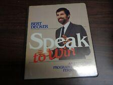 Speak To Win An Executive Program To Maxamize Personal Impact Bert Decker Audio