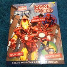 MARVEL SUPER HEROES, MAKE A HERO. IRON MAN, SPIDER-MAN, WOLVERINE. 9781742836874