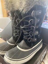 Sorel Women's Joan of Artic Waterproof Boots Snow  Black Quarry US 10 EU 41