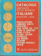 (AA.VV) Catalogo unificato delle monete italiane 1998   Alfa Torino