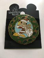 WDW Disney Santa Mickey Christmas Wreath Pin Year 2000 New On Original Card