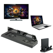 PS4 & USB HUB Ports Vertical Cooling Cooler Stand & Dual Controller Charge Dock