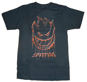 SPITFIRE WHEELS - Skateboard Tee Shirt - Large / Black - Spitting Blood