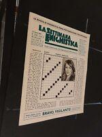 La settimana enigmistica n° 3725 del 2003. hurtey qs intonsa
