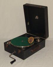 Altes Koffergrammophon Big Ben Schalldose Grammophon + Album Schellackplatten