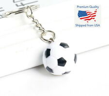 SC425 10 Soccer Ball Charms Antique Silver Tone