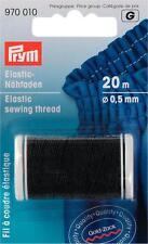 Prym Elastic-Nähfaden 20m umflochten 0,5 mm schwarz Bastelgummi 970010