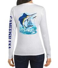 Women UPF 50 Long Sleeve Microfiber Performance Fishing Shirt Sailfish