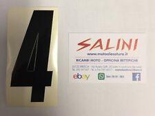 Numero Numeri adesivi gara moto cross QUATTRO Nero - 10 cm