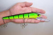 DEEP DIVER CRANKBAIT FISHING LURE RATTLE BAIT 3D EYES TACKLE HOOKS 22cm 48g DD1