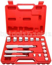 17pc BUSHING BEARING DRIVER INSTALLER REMOVER INSERTING ALUMINUM METRIC TOOL KIT
