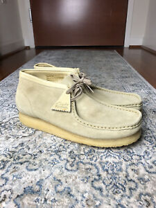 Clarks Mens Wallabee Maple Suede Boots Size 12 MINT