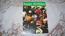 BIRTHDAY CARD NFL GREEN BAY PACKERS (yellow sticker inside)