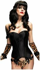 Paige Corset Burlesque Dancer Bustier Halloween Sexy Costume Accessory 2 COLORS
