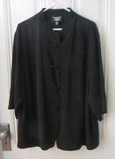 EMANUEL UNGARO LIBERTE BLACK SHIRT or JACKET, Size 20 / 54  EUC
