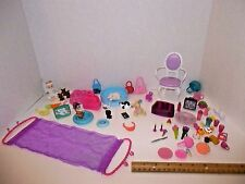 Barbie Lot Accessories Pets Food Dishes Purse Flowers TV