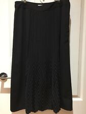 Noni B Black Skirt With Front Pleat Size 12