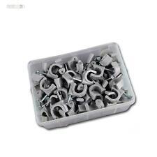 100 pinces à ongles gris, pour câble max Ø10mm câble pince nagelclip serre-câble