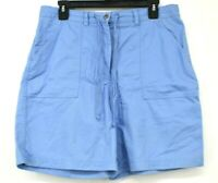 Jones New York Sport Womens Light Blue Tie Waist Slash Pockets Cotton Shorts 10