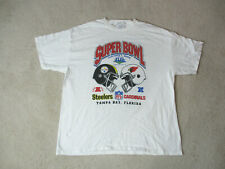 Pittsburgh Steelers Shirt Adult Extra Large White Super Bowl Xliii Football Mens