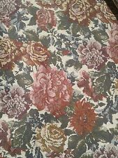 Vintage Dark Floral Tapestry Upholstery Fabric, Fabric Sold By The Yard