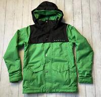 Burton Dryride Snowboard Ski Jacket Youth Boys Sz L (14/16) Green & Black Jacket