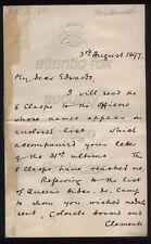 1897 GENERAL REDVERS BULLER V.C. War Office letter re JUBILEE MEDALS