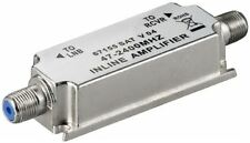 Satellite Inline Signal Amplifier/Booster for Sky FM DAB Wide Band LMB LNB DVB-S