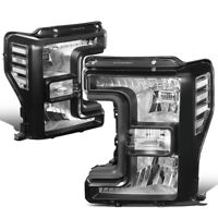Fit 17-19 Ford F250 Super Duty Black Housing OE Style Driving Headlight Lamps