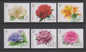 Jersey - 2015, Verbindungen Mit China, Garten Blumen Set - MNH - Sg 1992/7