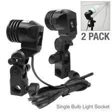 2 Pcs Universal Lighting Holder Bulb Single Head Socket Photo Studio Photography