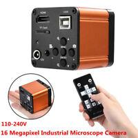 16MP 1080P 60FPS HDMI USB Lab Industrial FHD Microscope Digital Camera Video LJ