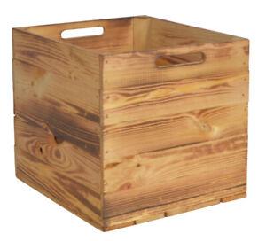 Kallax Holzkiste Geflammt 33x38x33cm Aufbewahrungsbox Aufbewahrungskorb Holz Box