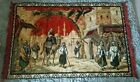 ☆ WONDERFUL ☆ LARGE Vintage Egypt / India Village Camel Tapestry Wall Hanging