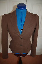 New Sz 8 GAP Chocolate Brown Ruched shoulder Smart/casual Jacket
