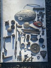 BSA C15 Engine And Cycle Parts Job Lot Side Case Badges Levers Selector Forks