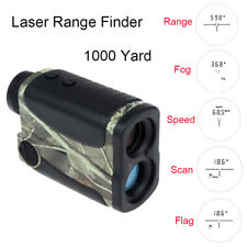 6X 1000Yd Laser Range Finder Golf Hunting Distance Speed Flagpole w/Pin Sensor