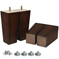 Wooden Furniture Legs Square Replacement For Sofa Couch Cabinet Ottoman 4pcs 6''