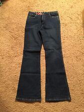 Guess Distressed Boot Cut Stretch Denim Jeans...Studded Waist...Size 28❤️